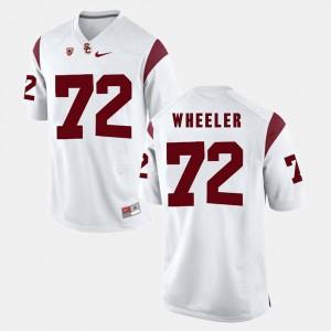 Men's Pac-12 Game Chad Wheeler USC Jersey White #72 995355-825