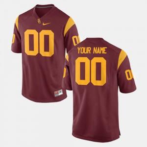 Cardinal For Men's USC Custom Jerseys #00 College Football 273067-597