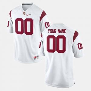Men #00 USC Custom Jerseys White College Football 725872-989