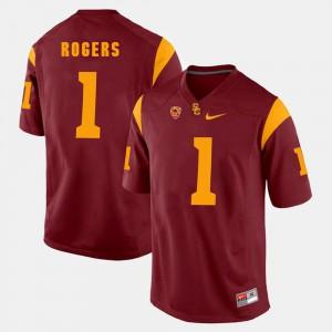 Darreus Rogers USC Jersey Men Pac-12 Game Red #1 797406-766