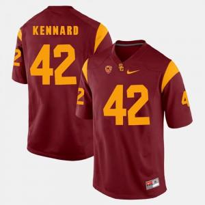 For Men's Devon Kennard USC Jersey #42 Pac-12 Game Red 727778-200