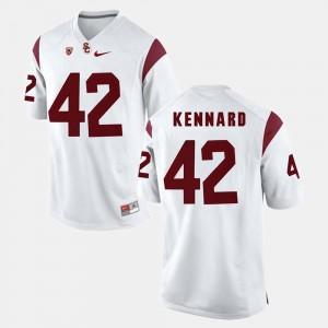 Devon Kennard USC Jersey Men's Pac-12 Game White #42 688736-667