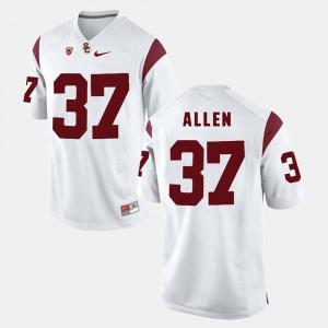 #37 White Men's Pac-12 Game Javorius Allen USC Jersey 897306-577