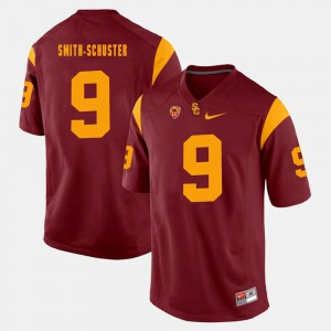 #9 JuJu Smith-Schuster USC Jersey Men's Red Pac-12 Game 470188-387
