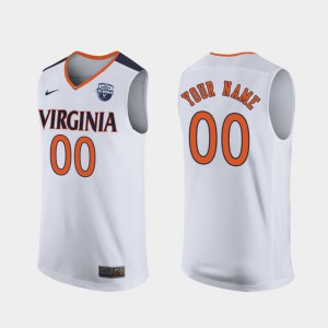 2019 Men's Basketball Champions White Men's UVA Customized Jerseys #00 464944-587