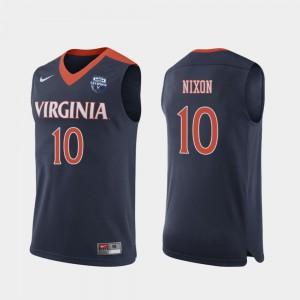 #10 Navy For Men Jayden Nixon UVA Jersey 2019 Men's Basketball Champions 844917-782