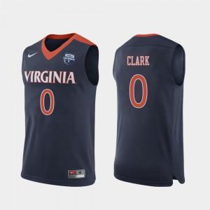 Mens Navy Kihei Clark UVA Jersey #0 2019 Men's Basketball Champions 193111-925