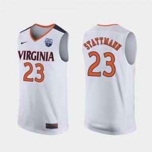 #23 For Men's 2019 Men's Basketball Champions White Kody Stattmann UVA Jersey 175090-423
