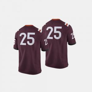 Maroon #25 Men Virginia Tech Jersey College Football 636137-658