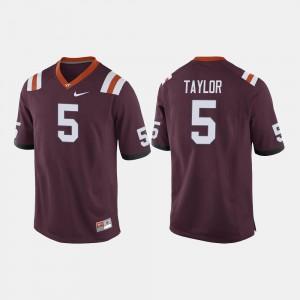 College Football Men's Tyrod Taylor Virginia Tech Jersey #5 Maroon 596831-984