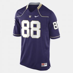 #88 Purple Washington Jersey Mens College Football 298618-909