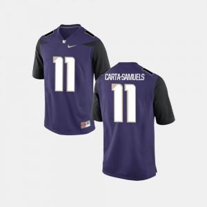 Purple K.J. Carta-Samuels Washington Jersey College Football #11 For Men 696556-426