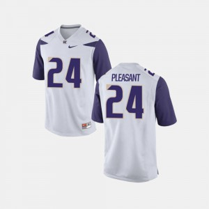 White #24 For Men Kamari Pleasant Washington Jersey College Football 692798-328