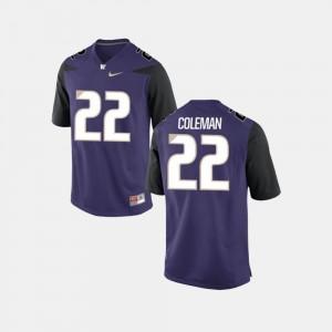 Lavon Coleman Washington Jersey Purple For Men College Football #22 817774-375