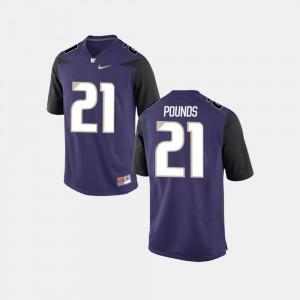 Quinten Pounds Washington Jersey College Football Mens Purple #21 302936-606