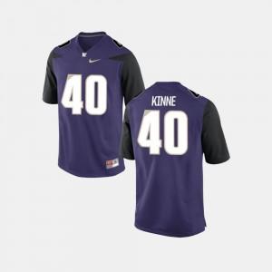 College Football Ralph Kinne Washington Jersey For Men #40 Purple 154218-782