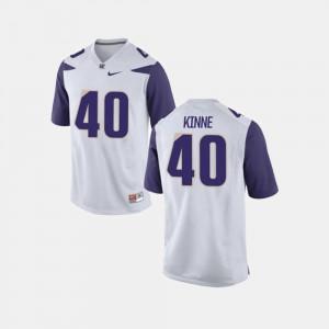 For Men Ralph Kinne Washington Jersey #40 White College Football 251250-957