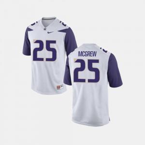 White #25 Sean McGrew Washington Jersey College Football Men 163545-448