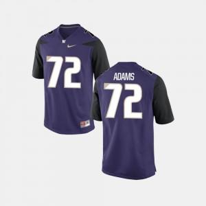 Trey Adams Washington Jersey College Football #72 Men Purple 239667-937