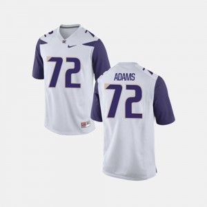 #72 Trey Adams Washington Jersey College Football Men White 308246-269
