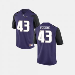 Men College Football Purple #43 Tristan Vizcaino Washington Jersey 352592-239