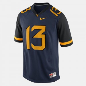Andrew Buie WVU Jersey College Football Blue For Men #13 588286-335