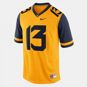Gold #13 For Men Andrew Buie WVU Jersey College Football 225635-867