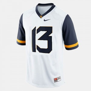 #13 Men's College Football Andrew Buie WVU Jersey White 859614-333