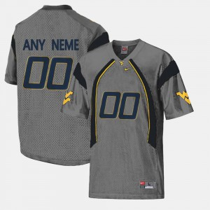 Gray College Limited Football For Men #00 WVU Customized Jersey 921406-794