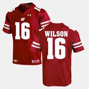 Red Men #16 Russell Wilson Wisconsin Jersey Alumni Football Game 231171-965