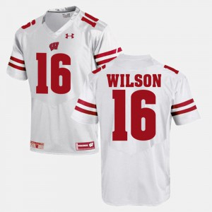 Russell Wilson Wisconsin Jersey #16 White Alumni Football Game For Men 150410-861