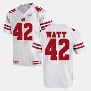 Men White T.J Watt Wisconsin Jersey #42 Alumni Football Game 336990-157