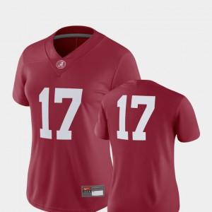 College Football 2018 Game #17 Alabama Jersey Womens Crimson 898305-519