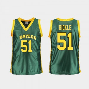 Replica #51 Green Caitlyn Bickle Baylor Jersey For Women's College Basketball 888544-745