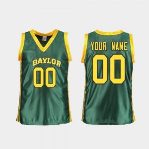 Green Replica College Basketball For Women's #00 Baylor Custom Jersey 523294-802