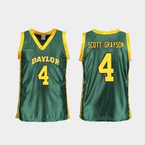Women's Replica Green Honesty Scott-Grayson Baylor Jersey College Basketball #4 749870-646