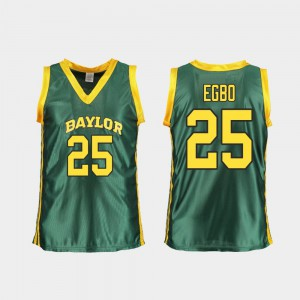 Replica #25 College Basketball Green Ladies Queen Egbo Baylor Jersey 547523-898