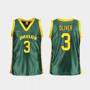Replica Trinity Oliver Baylor Jersey Women's College Basketball #3 Green 588027-481