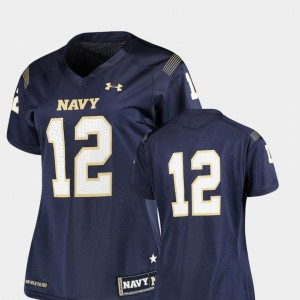 College Football Finished Replica Navy Jersey Navy #12 For Women 975001-922