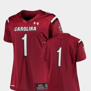 College Football #1 Finished Replica Garnet Ladies South Carolina Jersey 274230-481