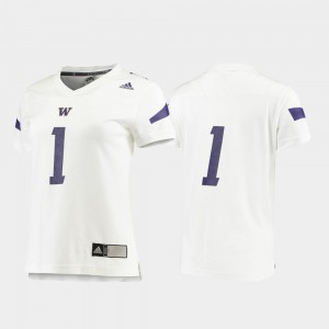 #1 Washington Jersey Football White Ladies Replica 783699-311