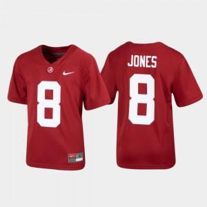 Alumni Football #8 Crimson Youth Julio Jones Alabama Jersey Replica 988438-551