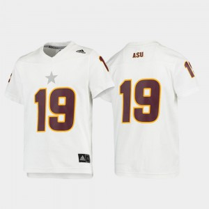 Replica White ASU Jersey Youth(Kids) Football #19 995448-100
