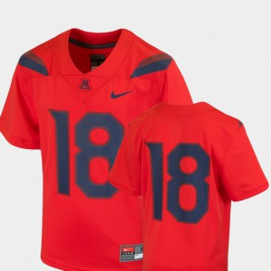Arizona Jersey College Football Kids Team Replica #18 Red 359894-774