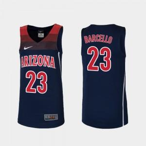 #23 Replica Youth(Kids) College Basketball Navy Alex Barcello Arizona Jersey 926366-306