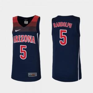 Youth #5 Navy Replica Brandon Randolph Arizona Jersey College Basketball 277885-513