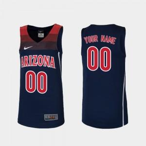 Navy #00 Replica College Basketball Kids Arizona Customized Jerseys 173690-236