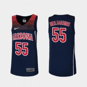 Youth(Kids) Navy Replica College Basketball #55 Jake DesJardins Arizona Jersey 153496-535
