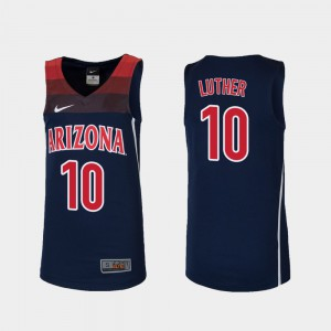 Youth #10 Ryan Luther Arizona Jersey Navy Replica College Basketball 641308-546
