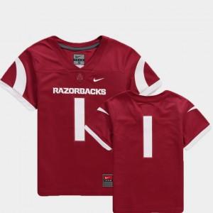 College Football Cardinal Team Replica Youth(Kids) #1 Arkansas Jersey 331383-280